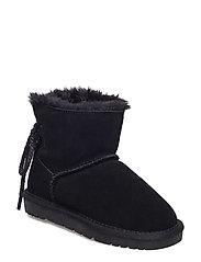 boot teddy w. lace - BLACK
