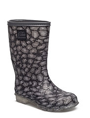 Rubber boot w. lining - LEO GLITTER