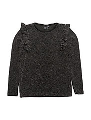 Blouse - BLACK GLITTER