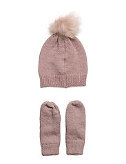hat and gloves - ROSE