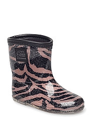 Rubber boot baby - ZEBRA ROSE BLACK