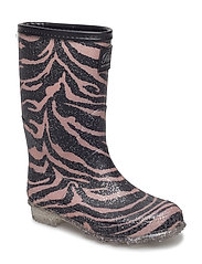 Rubber boot - ZEBRA ROSE BLACK