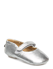 Leather baby indoor shoe - SILVER