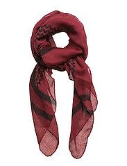 lace scarf - WINE