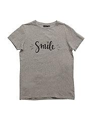 T-shirt Smil - GREY MELANGE