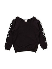 loose fit sweat - SOLID BLK
