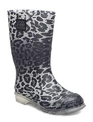 Rubber boot - GREY LEOPARD