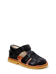 leather sandal - black