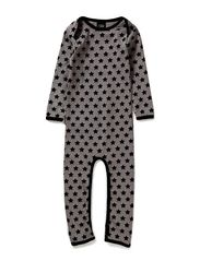PETIT by Sofie Schnoor Grey nightsuit w. big stars