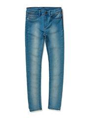 denim leggings - blue wash