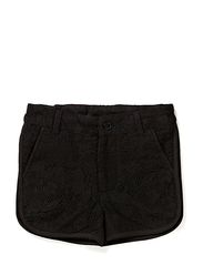 shorts w. lace - black