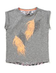t-shirt, feather seq - grey melange