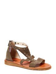 sandal - d. grey