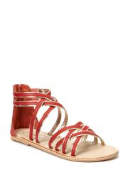 Sandal cross - coral