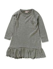 Dress w. lurex - SILV. GREY