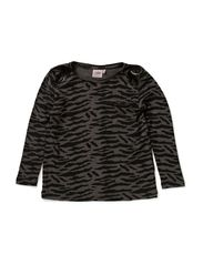 T-shirt w. zebra print - GREY MLG.