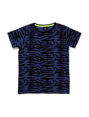 T-shirt - black blue