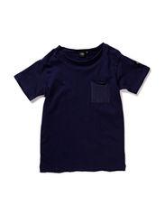 T-shirt w pocket - d.blue