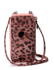 Leo phone bag - red leopard