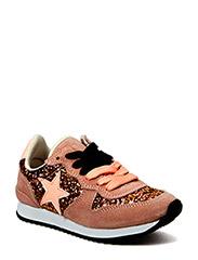 Sneaker w. glitter - peach glitter