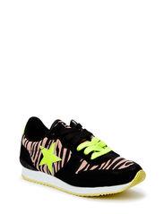 Sneaker w. print - black