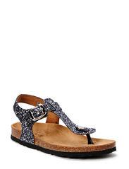 Sandal glitter - antic silver