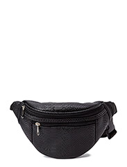 Croco bum bag - black