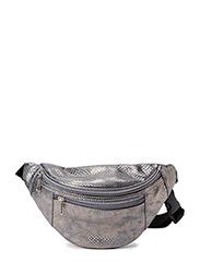 Metal croco bum bag - antic silver