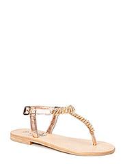 Sandal w. stones - peach