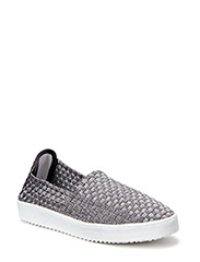 Braided sneaker - antic silver