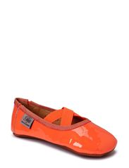 Indoors shoe - patent - neon orange