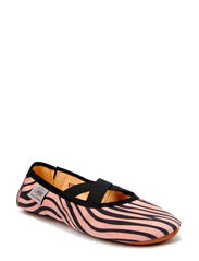 Suede indoor shoe - coral