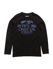 T-Shirt LS R-Neck - BLACK