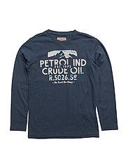 T-Shirt LS R-Neck - DARK TURQUOISE