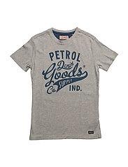 T-Shirt SS R-Neck - LIGHT GREY MELEE