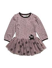 BECCA LEAF DRESS - QUAIL