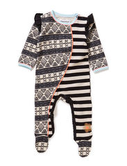 THINK BABY GIRL SUIT - White sand