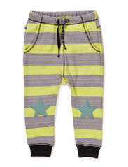 NAME BABY BOY PANTS - White sand