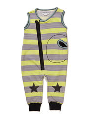 NAME BABY BOY SUIT - White sand