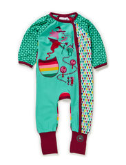 Sugar new born suit - Electric Green