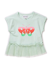 BUTTERFLY BABY GIRL TOP - Misty jade