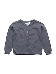 ANNA POINTELLE CARDIGAN - GRISAILLE