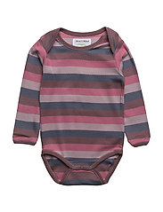 ALBERTE STRIPED BODY - BLACK PLUM