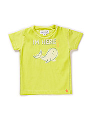WHALE BABY BOY T-SHIRT - Wild lime