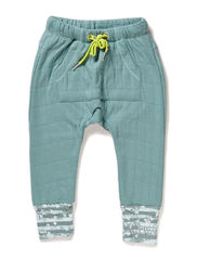 RYAN BABY BOY PANTS - Mineral blue