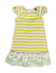 ZOE GIRL DRESS - Wild lime