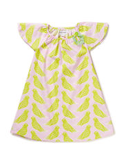 SARAH GIRL DRESS - Wild lime