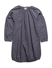 LUCIA POPSY DRESS - GRISAILLE