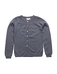 LULU POINTELLE CARDIGAN - GRISAILLE