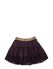 NADIA LACE SKIRT - PLUM